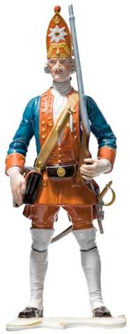 № 122 Der Lange Kerl, painted (one of Frederick the Great's guardsmen), height 29 cm. 1941/42.
